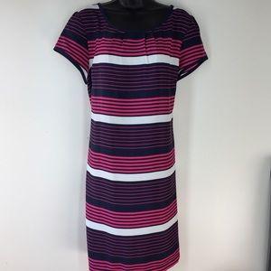Tommy Hilfiger Women's XL Dress. Stripes Blue Pink